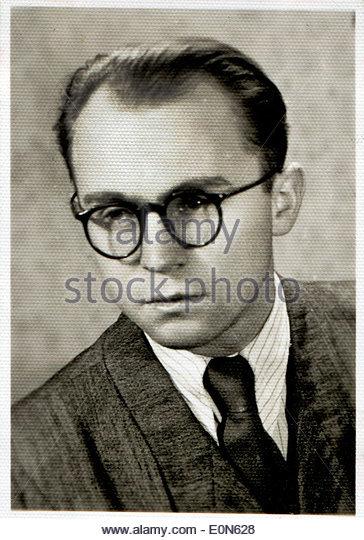 junger Mann aus der Zeit der 40er und 50er Jahre Stockbild