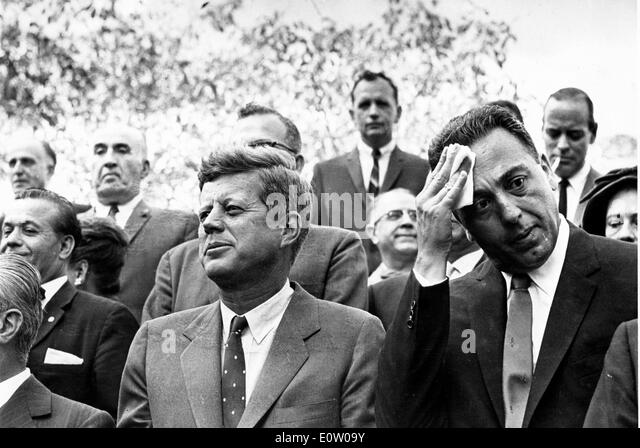 Präsident John F. Kennedy Uhren Columbus Day event Stockbild