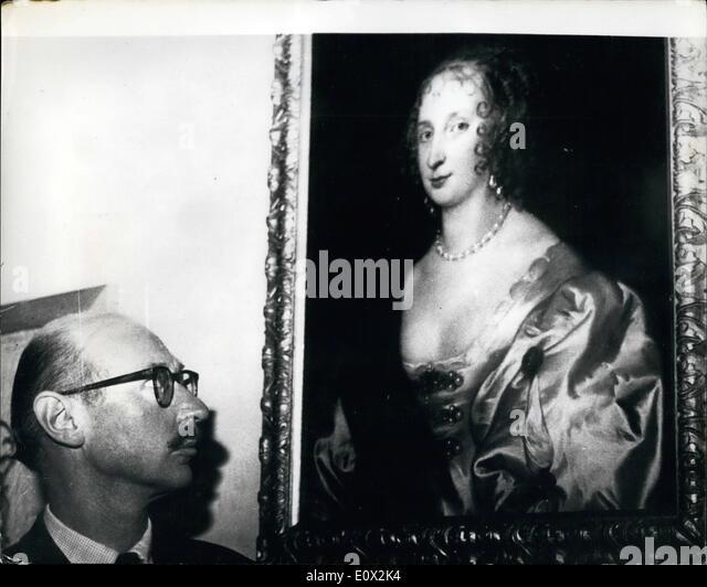 1. Januar 1965 - Van Dyck Meisterwerk im alten Schloss Elizabeth - Gräfin von Arundel - 1635 entdeckt.: A van Stockbild