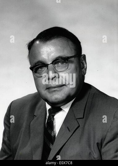 31. August 1965; New York, NY, USA; US-amerikanischer Diplomat DONALD C. BERGAS. Stockbild