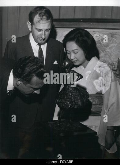 7. Juli 1969 - herausragende Gemälde, während britische Woche gibt es im September in Tokio verkauft werden: Stockbild