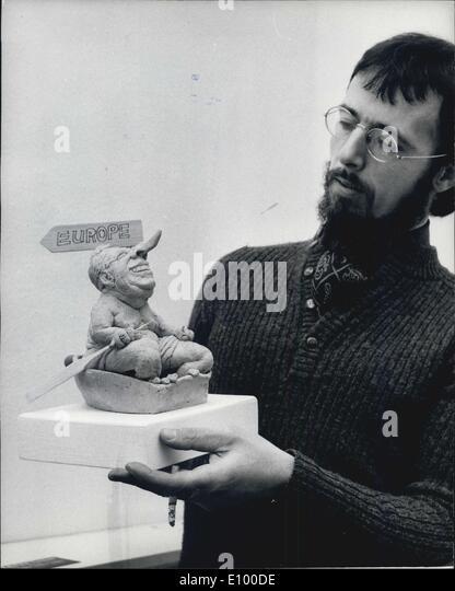 """18. Januar 1972 - Gordon Govier '' anhänglich Polit-Satire"""": eine Ausstellung der Arbeiten von Stockbild"""