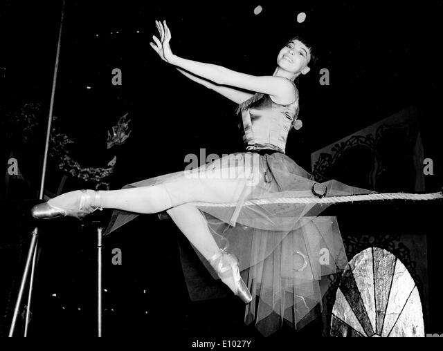 LESLIE CARON französischer Filmregisseur, Schauspielerin und Tänzerin. Stockbild