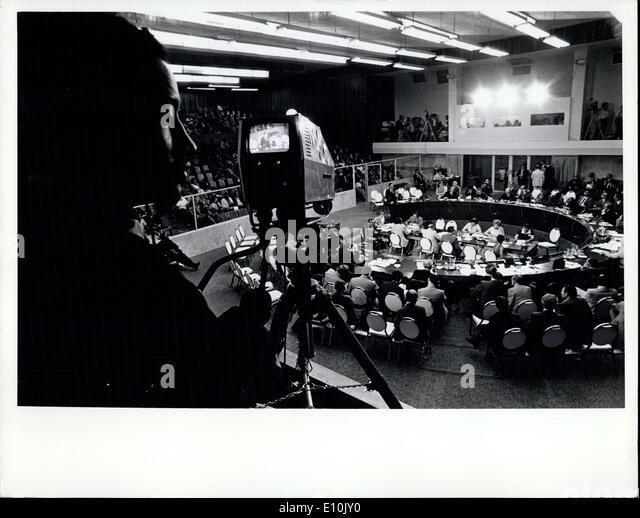 15. März 1973 - Sicherheitsrat hört Aussagen von fünf lateinamerikanischen Außenminister: der Stockbild