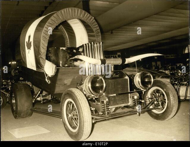 7. Januar 1974 - Chuck Wagon LKW auf Ausstellung in Paris Stockbild