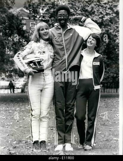 Sept. 09, 1979 - Kelly Mädchen Sponsor-Basketball-Volleyball und Tischtennis.: Kelly Mädchen derzeit sponsor Stockbild