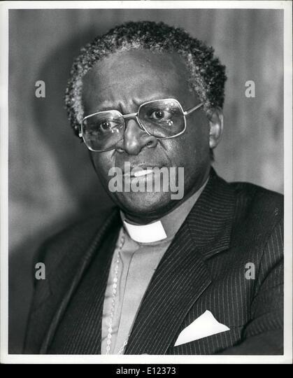 2. Februar 1984 - hielt Bischof Desmond Tute, Generalsekretär des südafrikanischen Rat der Kirchen und Stockbild