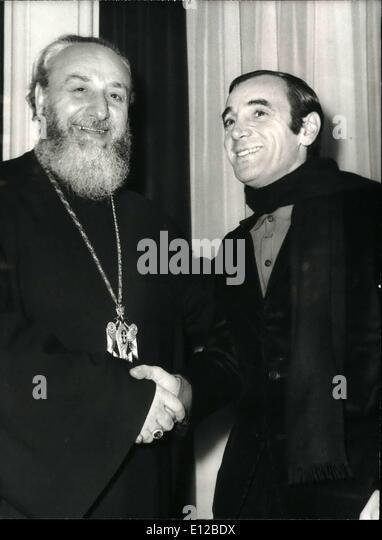 9. Dezember 2011 - Obersten Patriarchen der armenischen Kirche (Katholiken Echmieazin) VASKEN 1.-erhielt gestern Stockbild