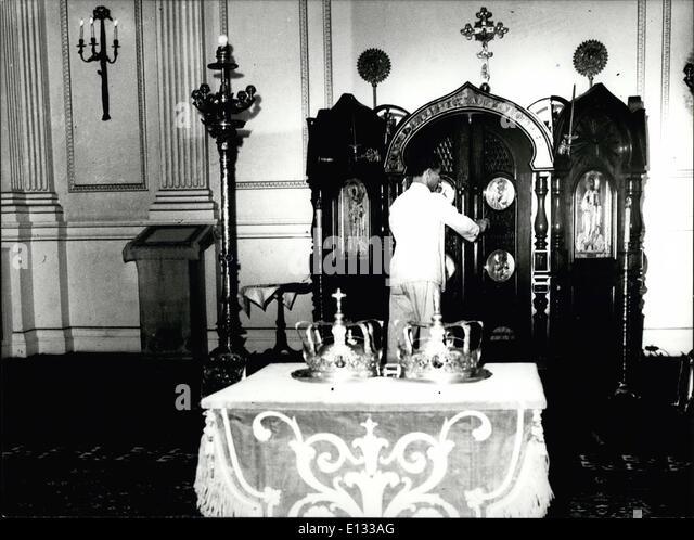 26. Februar 2012 - Wiederbelebung der griechischen Monarchie 1977 Stockbild