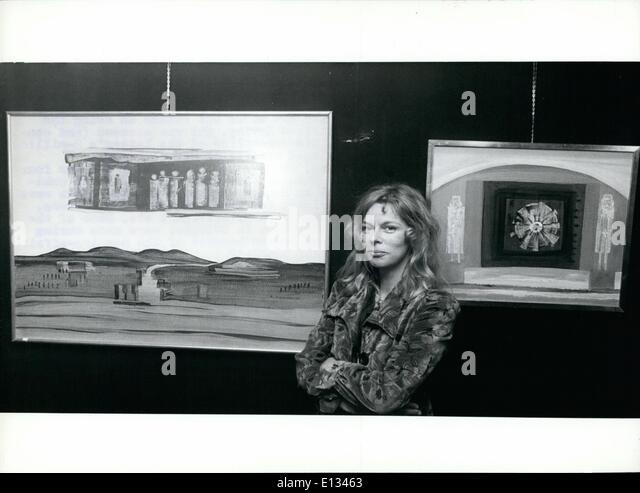 26. Februar 2012 - Edith Sommer-Irving zeigt ihre Bilder in Köln: '' romantischen Phantasien '' Stockbild