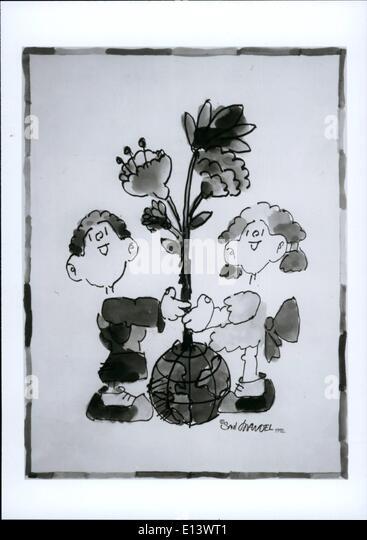 27. März 2012 - ein Aquarell Malerei von Saul Mandel, mit dem Titel '' Genesis'', auf die WFUNA Stockbild