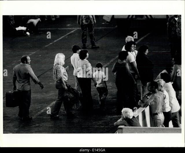 4. April 2012 - neu eingetroffen bei Key West kubanischen Flüchtlingszentrum in Key West werden hier gezeigt, Stockbild