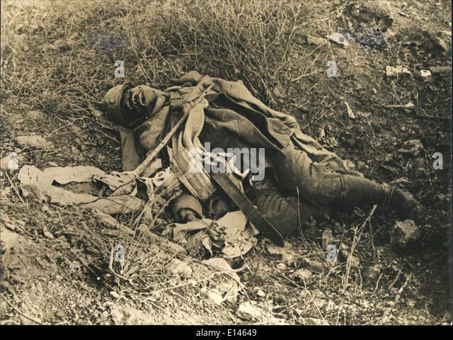 16. April 2012 - wurde er aus dem 67. Regiment. die Schlacht von Verdun war die längste im ersten Weltkrieg Stockbild
