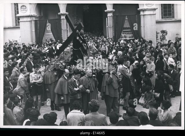 16. April 2012 - katholischen Prozession: Katholiken in Hong Kong gestern Celebrata Mariä '' unsere Stockbild