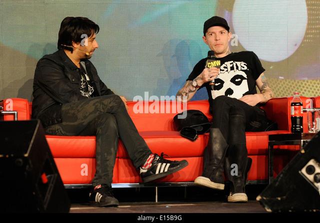 Promi-Interview mit Deadmau5, Joel Zimmerman auf 2014 Canadian Music Week. Stockbild