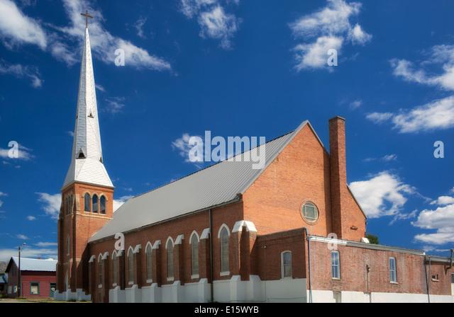 Die Kirche der Verkündigung. Katholische Kirche. Leadville, Colorado Stockbild