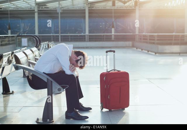 Flugverspätung Stockbild