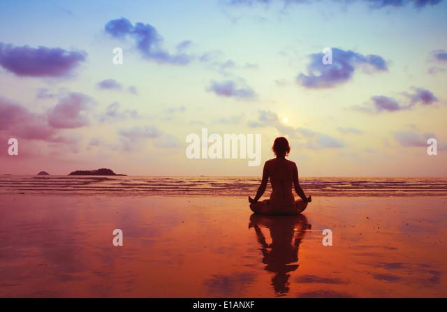 gesunder Lifestyle-Konzept, Körper, Geist und Seele Stockbild