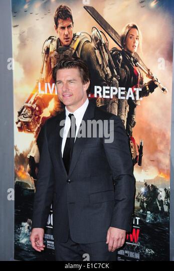 """New York, NY. 28. Mai 2014. Schauspieler Tom Cruise besucht die Premiere von """"Edge Of Tomorrow"""" bei AMC Stockbild"""