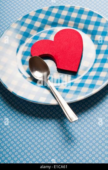 Liebe und Leidenschaft-Konzept Stockbild
