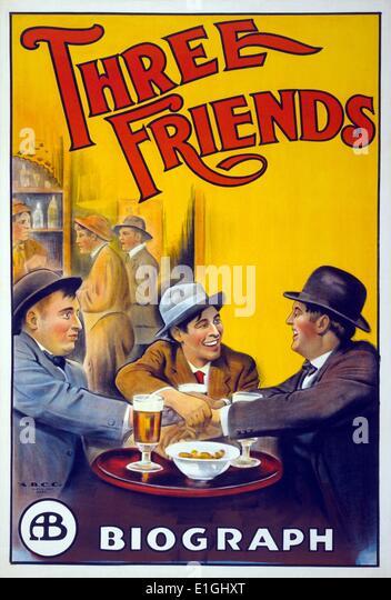 """""""Drei Freunde"""" ein Konzeptalbum 1972 durch die britische progressive-Rock-band Gentle Giant. Stockbild"""