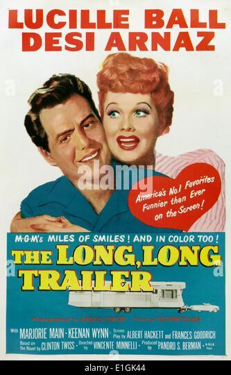 """""""Die lange, lange Trailer"""" mit Lucille Ball basierend ein Film auf einem Roman des gleichen Namens. Stockbild"""