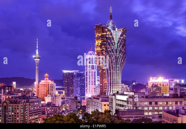 Macao, China Casino Stadtbild. Stockbild