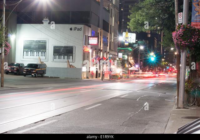 IPad-Farbe an der Wand von Toronto, Kanada. Stockbild