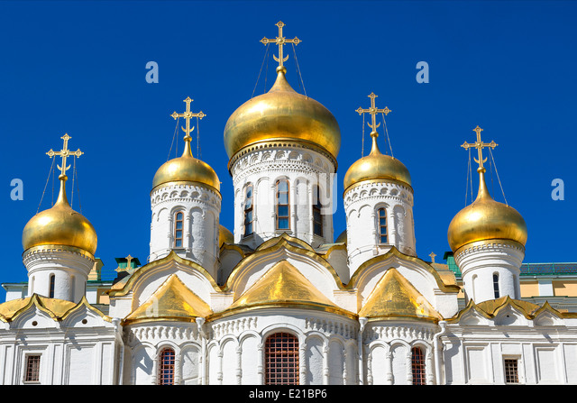 Moskau, die Verkündigung Kathedrale Stockbild