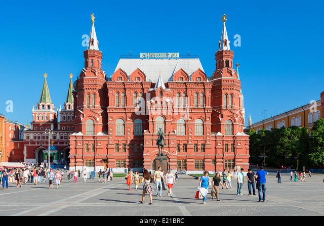 Russland, Moskau, Staatliches Historisches Museum Stockbild