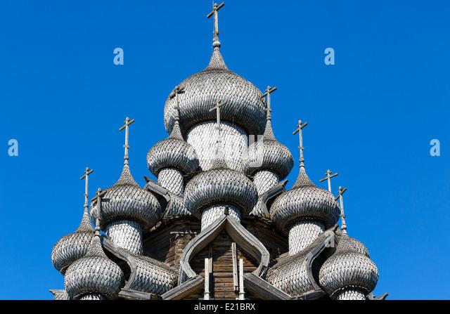 Russland, Insel Kischi, Kirche der Verklärung Stockbild