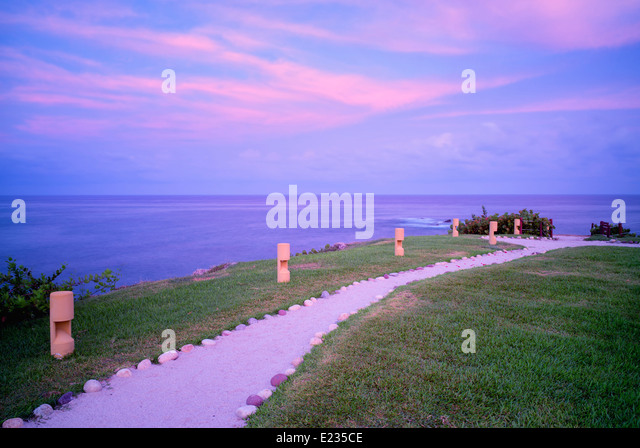 Pfad im Four Seasons Resort. Punta Mita, Mexiko. Stockbild