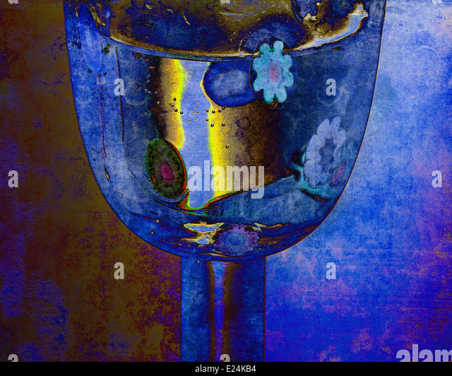 DIGITALE Kunst: In Vino Veritas Stockbild
