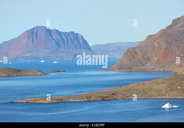 Grönland, Nuussuaq Halbinsel, Qasigialigssuaq bay Stockbild