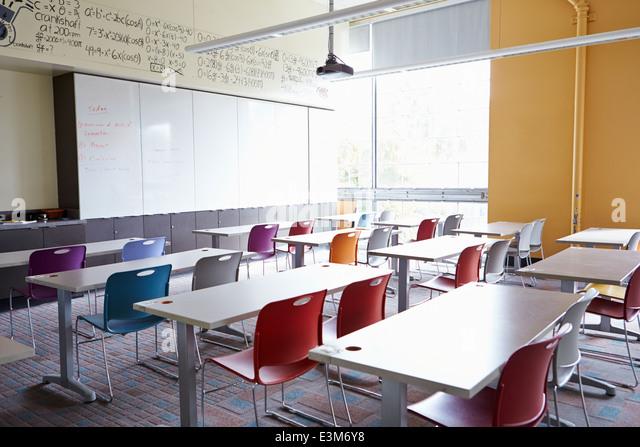 Leere Klassenzimmer Stockbild