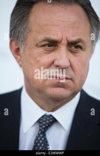 Russland. 30. Juni 2014. Witali Mutko - Minister für Jugend, Sport und Tourismus Politik der Russischen Föderation Stockbild