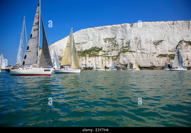 J P Morgan Round the Island Rennen 2014, Stockbild