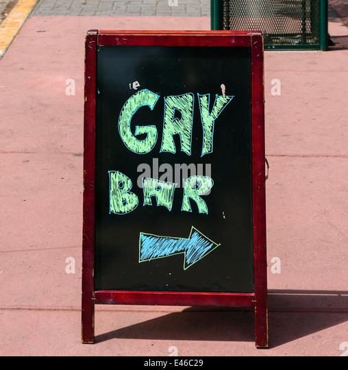 Melden Sie sich für gay-Bar auf der 5th Avenue in den Hillcret Bezirk von San Diego, Kalifornien, USA Stockbild