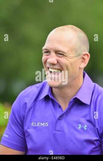 Golf. Celebrity Cup.Celtic Manor Wales Resort. Mike Tindall teilnehmen. ROBERT TIMONEY/ALAMYLIVE/NEWS Stockbild