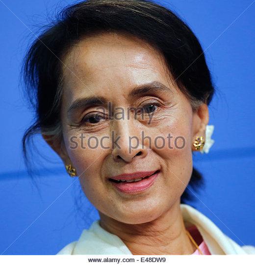 Berlin, Deutschland, Aung San Suu Kyi, Vorsitzende der NLD Stockbild