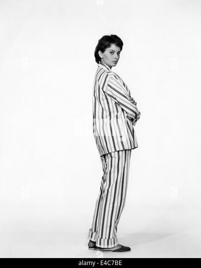 """Sophia Loren, Portrait Werbung für den Film, """"der Schlüssel"""", 1958 Stockbild"""