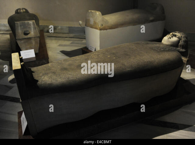 Menschenaffen Sarkophag. 3. Viertel des 5. Jahrhunderts v. Chr.. Marmor. Klassik. Von Gazza (Palästina). Archäologisches Stockbild