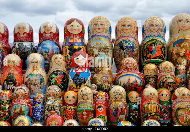russia moscow souvenirs nobody stockfotos russia moscow souvenirs nobody bilder alamy. Black Bedroom Furniture Sets. Home Design Ideas