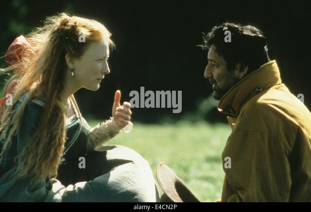 ELIZABETH 1998 PolyGram Film mit Cate Blanchett und Shekhar Kapur Stockbild
