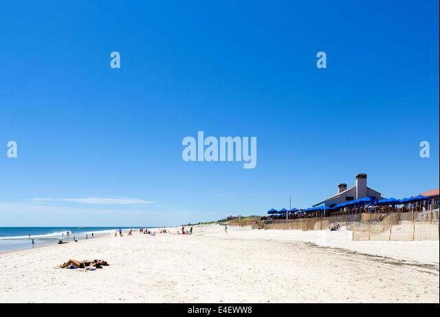 Strand von Southampton, den Hamptons, Suffolk County, Long Island, NY, USA Stockbild