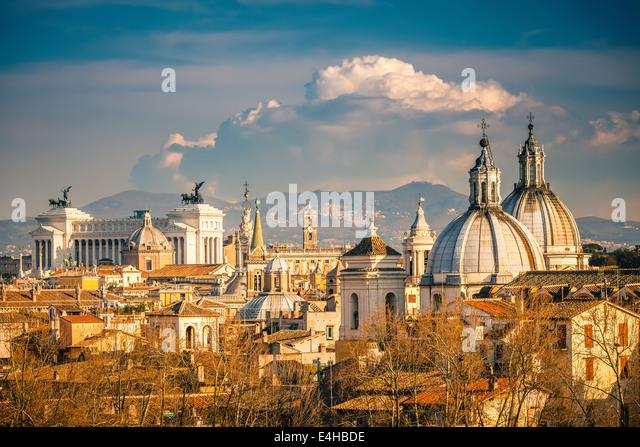 Luftaufnahme von Rom Stockbild