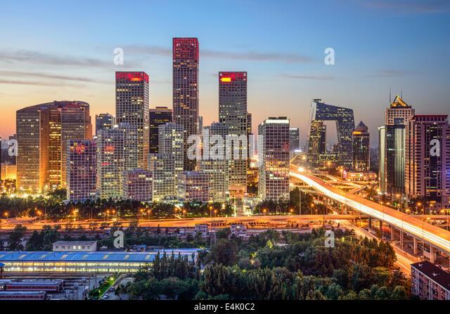Peking, China-Skyline im central Business District. Stockbild