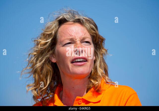BBC Wildlife und Wissenschaft TV-Moderatorin Kate Humble. Stockbild