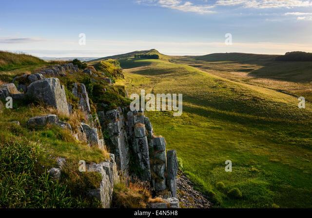 Hoher Schild Crag Stockbild