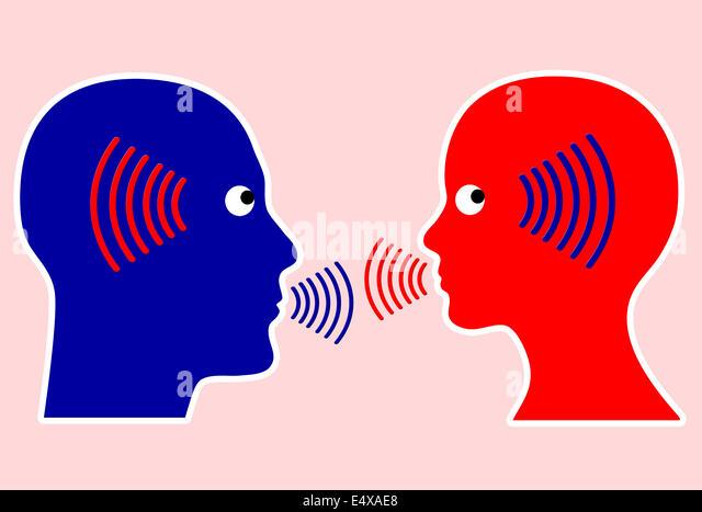 Konzept der Kommunikation Stockbild